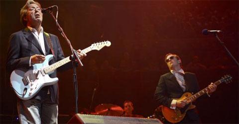 Joe with the blues god himself.
