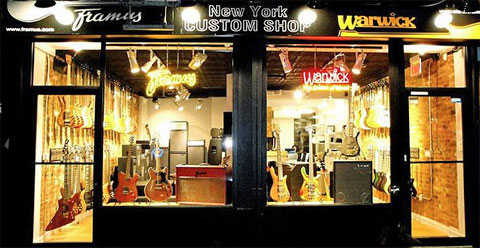 Here's the NYC storefront (Framus photo).