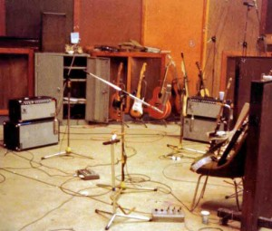 Here's Clapton's and George Terry's rigs just after they finished 'Cocaine'...the song! (georgeterry.com photo, click to see bigger)