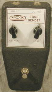 A Vox Tone Bender (click to see it bigger).