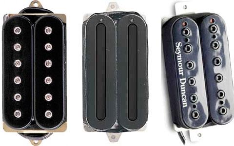L2R: DiMarzio Dual Sound, DiMarzio X2N, Duncan Full Shred.