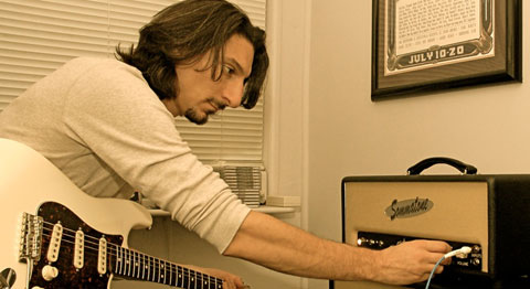 Jimmy Somma tweaking one of his instruments (Sommatone photo).