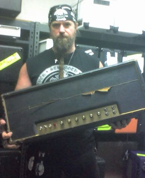 "Here's Zakk holding the ""grail"" (Zakk Wylde photo)."