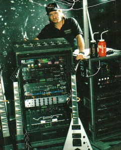 In case there's any doubt about the rig, here's Dave's '92 live rig with the CAE and VHT units in it (guitardudeproducts.com photo, click to see bigger).