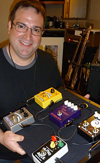 Ken Abate with some of his pedals....