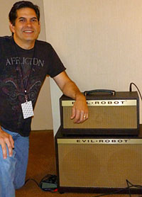 John Kasha with the Evil Robot head and cab.